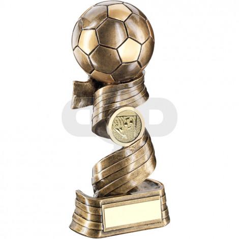 Football On Swirled Ribbon Trophy