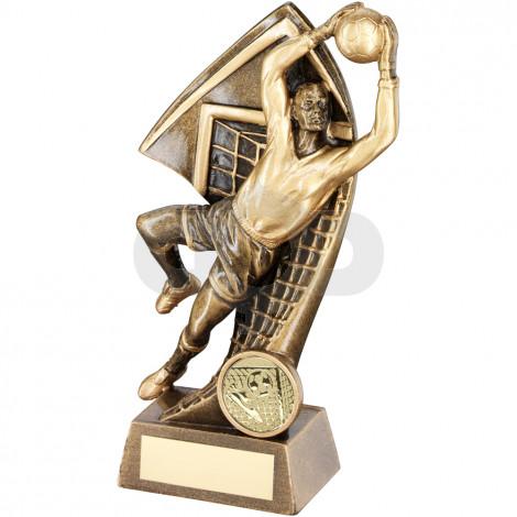 Goalkeeper With Net Backdrop Trophy