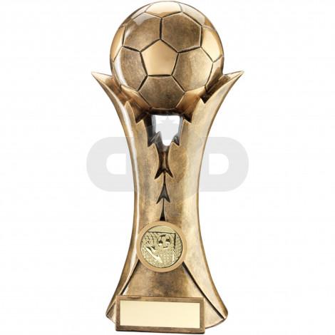 Football On Leaf Column Trophy
