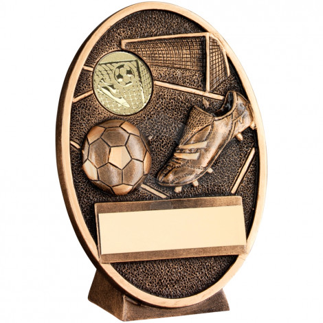 Football & Boot Oval Plaque Trophy