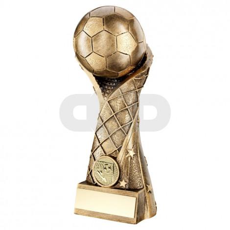Bronze Football On Star Net Riser Trophy