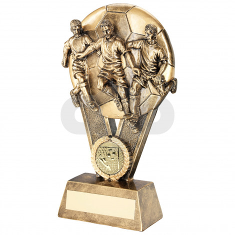 Male Multi Footballer On Ball Trophy