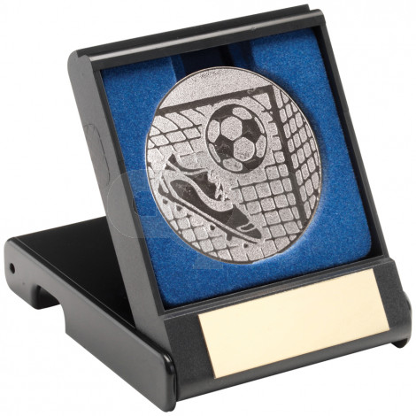 Black Plastic Box With Football Insert