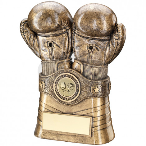 Boxing Gloves & Belt Trophy