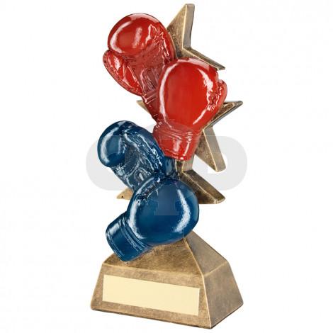 Boxing Gloves On Multi Star Riser Trophy