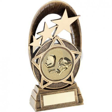 Generic Tri-Star Oval With Boxing Insert Trophy