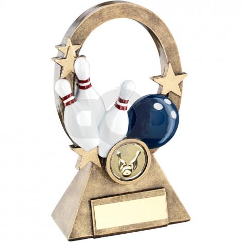 Multi Ten Pin Oval Stars Series Trophy
