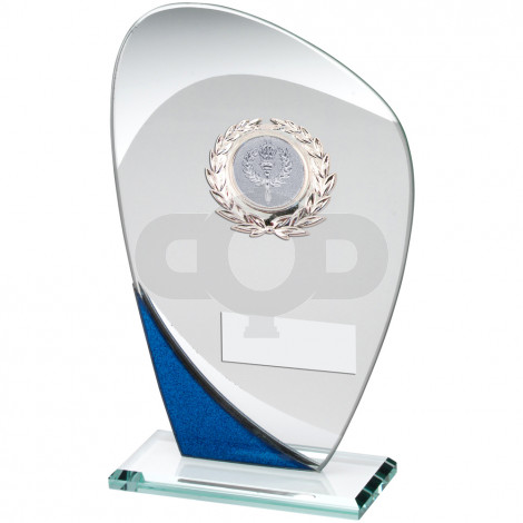Glass Plaque With Silver Trim Trophy