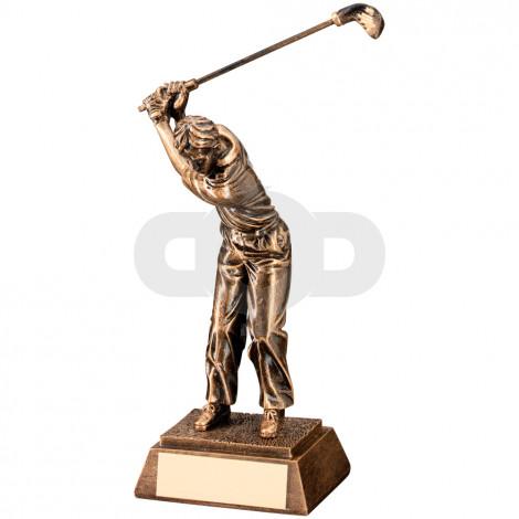 Resin Male 'Back Swing' Golf Trophy