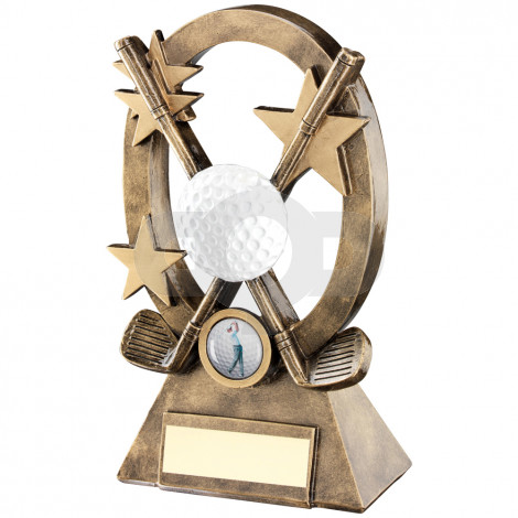 Golf Oval Stars Series Trophy