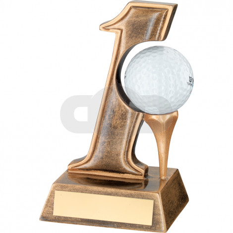 Resin 'Hole in One' Golf Trophy