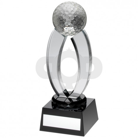 Clear Glass Golf Arches Trophy