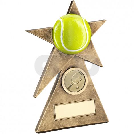 Tennis Star On Pyramid Base Trophy