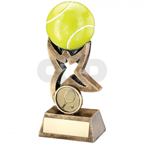 Tennis Ball On Star Riser Trophy