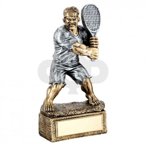 Bronze & Pewter Tennis 'Beasts' Figure Trophy