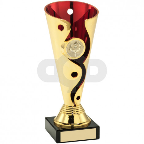Plastic Swirl And Dot Trophy