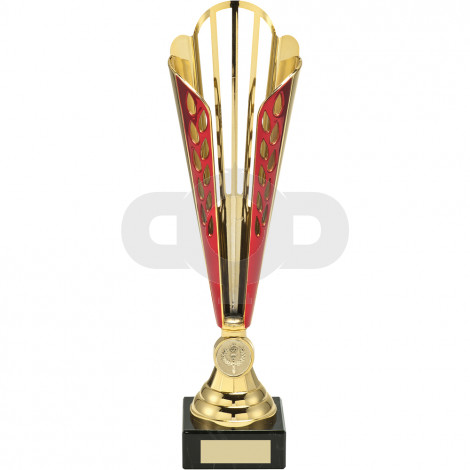 Tall Plastic Award With Star Insert Trophy