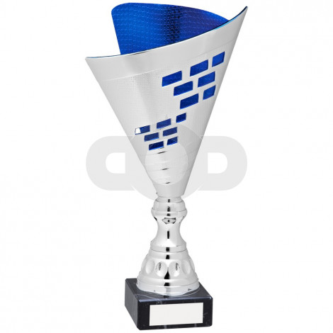 Silver & Blue Plastic Elegance Trophy