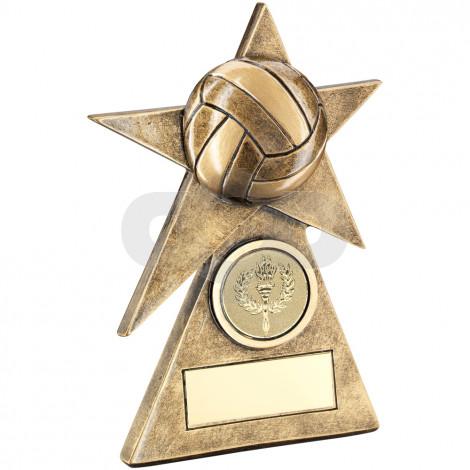 Gaelic Football Star On Pyramid Base Trophy
