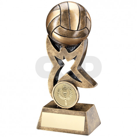 Gaelic Football On Star Trophy Riser Trophy