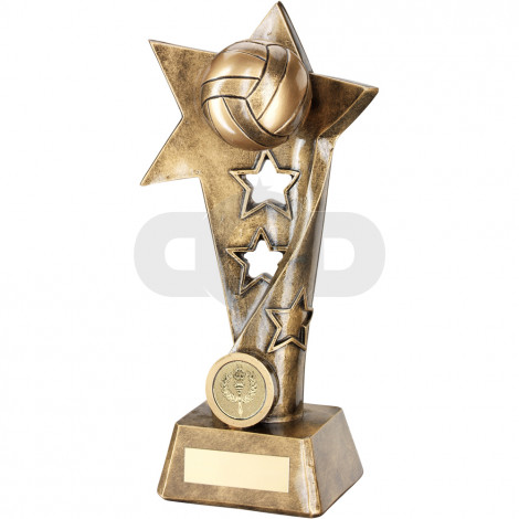 Gaelic Football Twisted Star Column Trophy