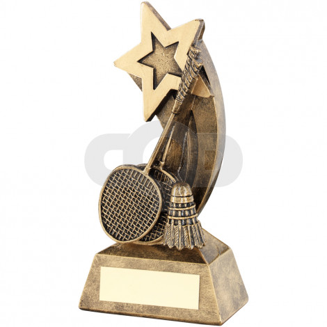 Badminton Rackets & Shuttlecock With Shooting Star Trophy