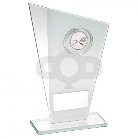 Printed Glass Plaque With Squash Insert Trophy