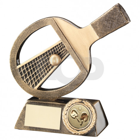Table Tennis Bat, Net & Ball Trophy