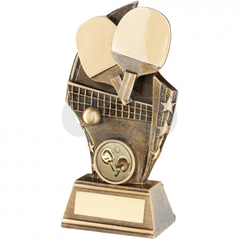 Table Tennis Curved Plaque Trophy