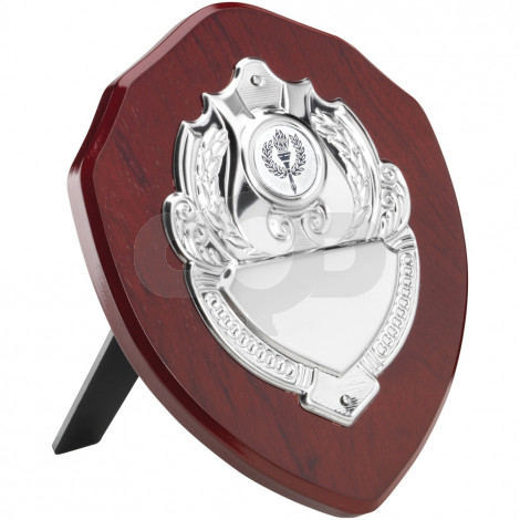 Rosewood Shield With Chrome Front