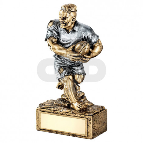 Bronze & Pewter Rugby 'Beasts' Figure Trophy