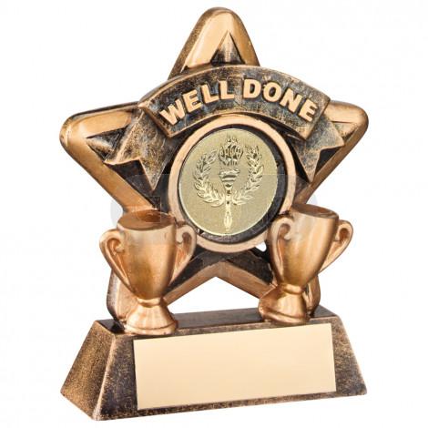 Mini Star 'Well Done' Trophy