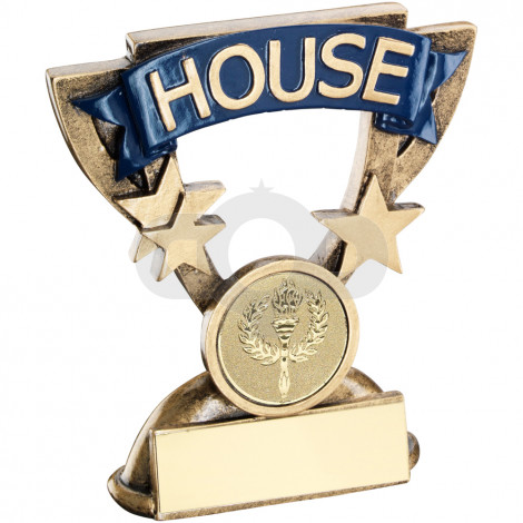 School House Mini Cup Trophy Blue