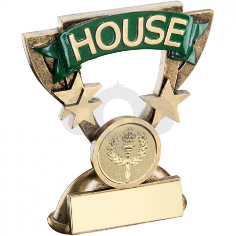 School House Mini Cup Trophy Green