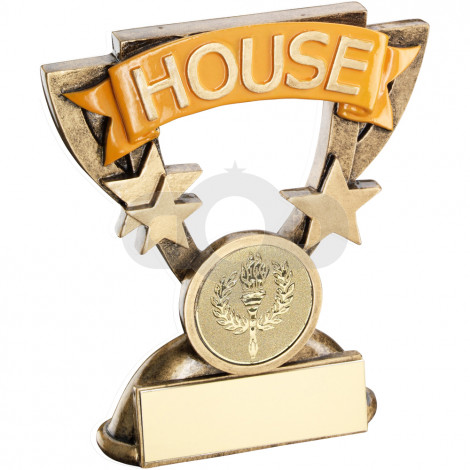 School House Mini Cup Trophy Yellow
