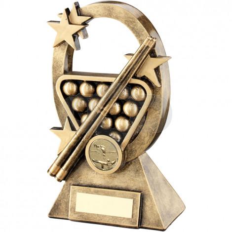 Pool/Snooker Oval & Stars Series Trophy