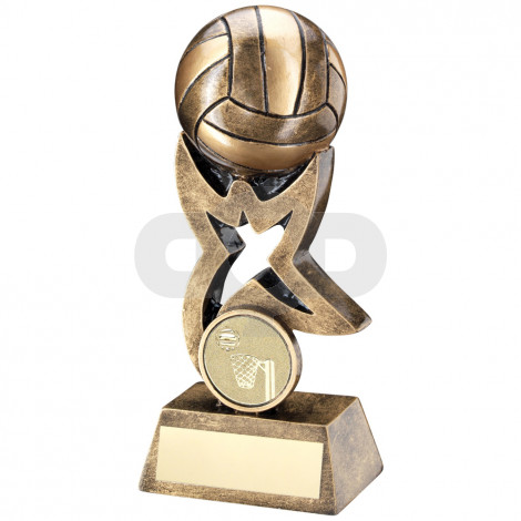 Volleyball On Star Trophy Riser Trophy