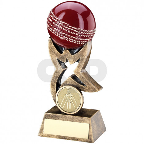 Cricket Ball On Star Riser Trophy