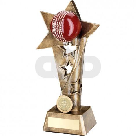 Cricket Twisted Star Column Trophy