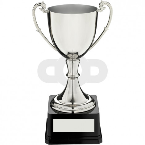 Nickel Plated Cup On Heavyweight Base Trophy