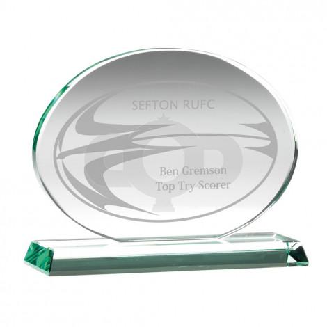 Jade Glass Oval