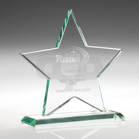 Jade Glass Star (10mm Thick)