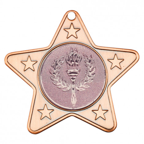 50mm Star Shaped Medal With 5 Mini Stars