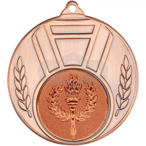 Ribbon And Leaf Medal Bronze