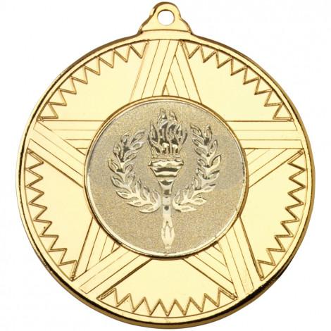 50mm Striped Star Medal
