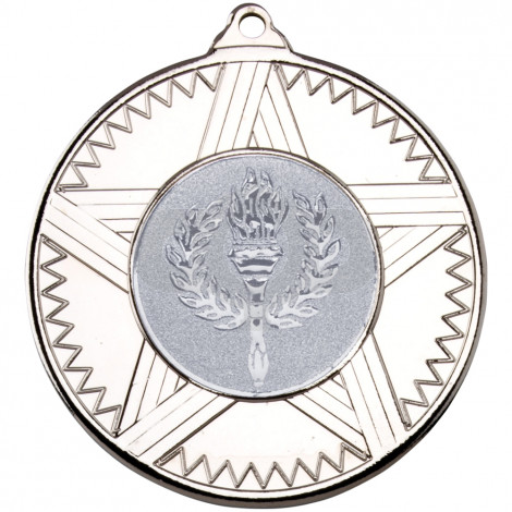50mm Striped Star Medal