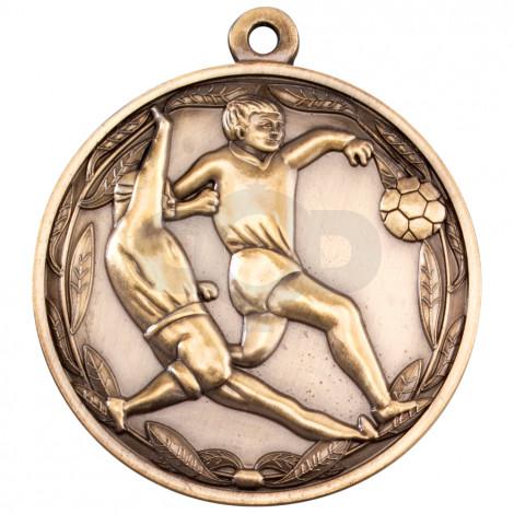 50mm Double Footballer Medal