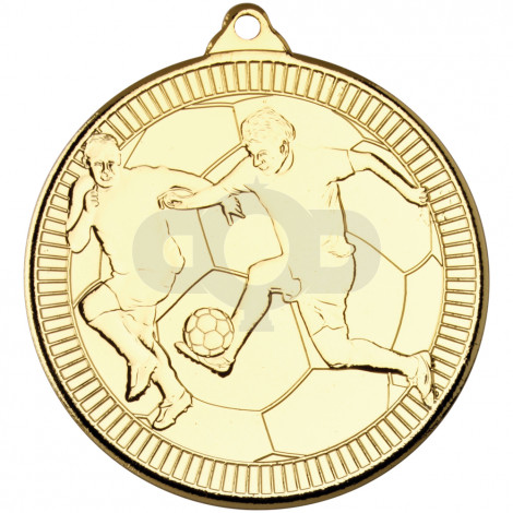 50mm Football 'Multi Line' Medal