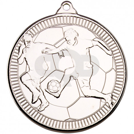 50mm Football 'Multi Line' Medal