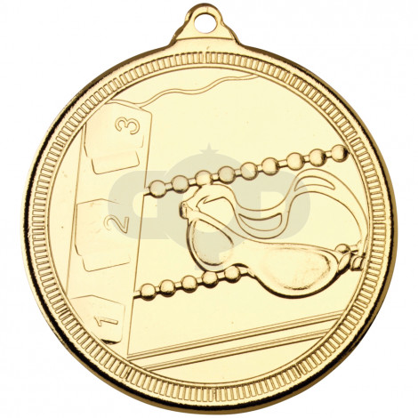 50mm Swimming 'Multi Line' Medal